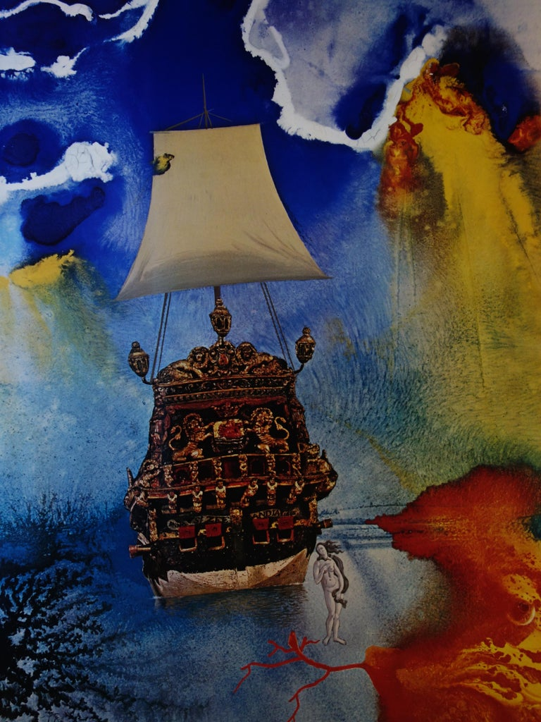 Man and Sea - Vintage exhibition poster - 1972 - Surrealist Print by (after) Salvador Dali