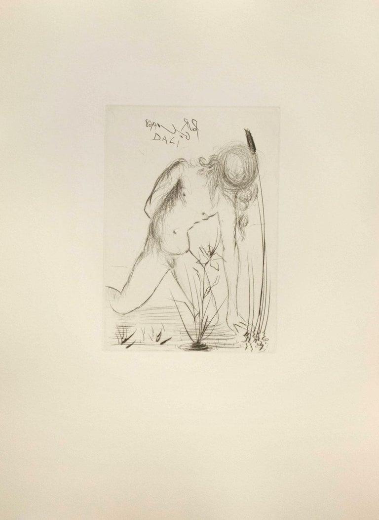 (after) Salvador Dali Portrait Print - Narcissus