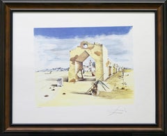 """Paranoic Village-Limited Edition Lithograph. """"Facsimile Signed"""" with COA"""