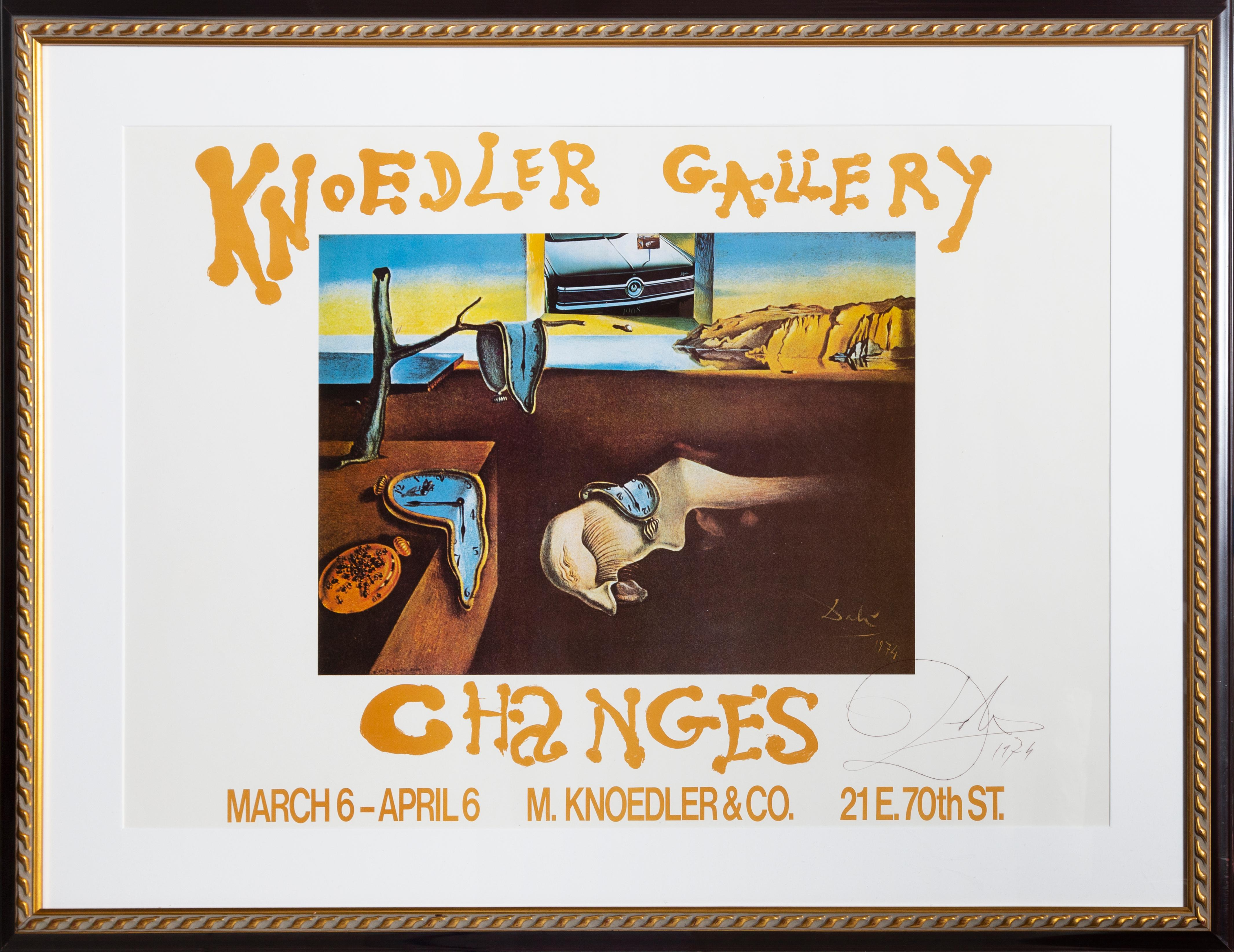 Persistence of Memory, Knoedler Gallery Poster Signed by Salvador Dali