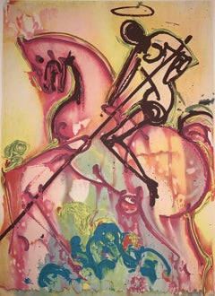 Saint-Georges - The horses of Dali - Lithograph - Surrealist - 1983
