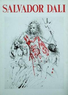 Salvador Dali  Poseidon ( Neptune ) rare original lithograph poster 1980