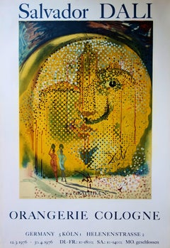 Sol y Dali - Rare Vintage Lithograph Poster - Mourlot 1967 (Field #67-1)