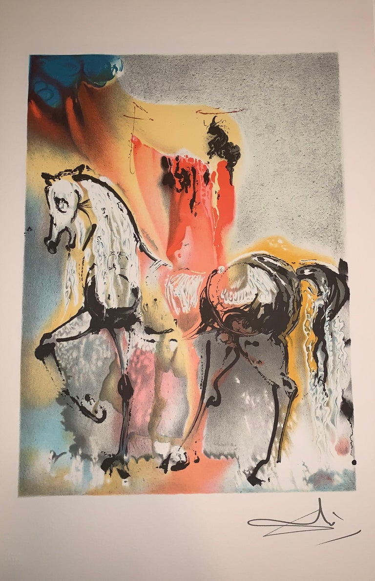 The Christian Knight - The horses of Dali - Lithograph - Surrealist - 1983 - Print by (after) Salvador Dali
