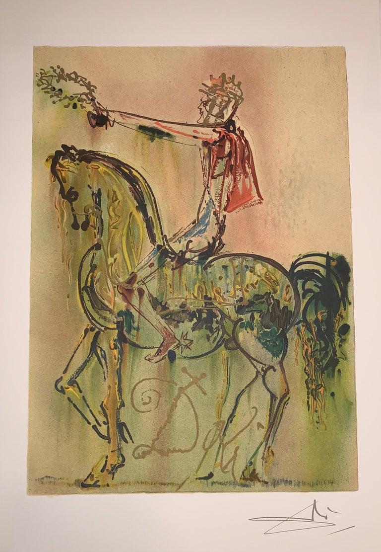 The Roman Cavalier The horses of Dali - Lithograph - Surrealist - 1983 2