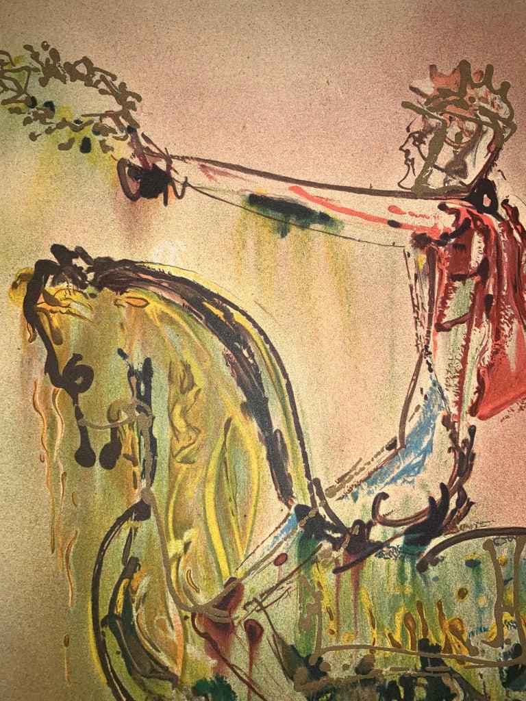 The Roman Cavalier The horses of Dali - Lithograph - Surrealist - 1983 4
