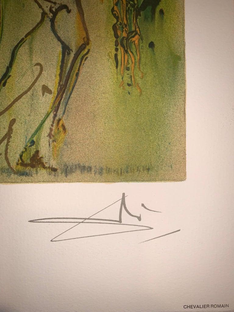 The Roman Cavalier The horses of Dali - Lithograph - Surrealist - 1983 5