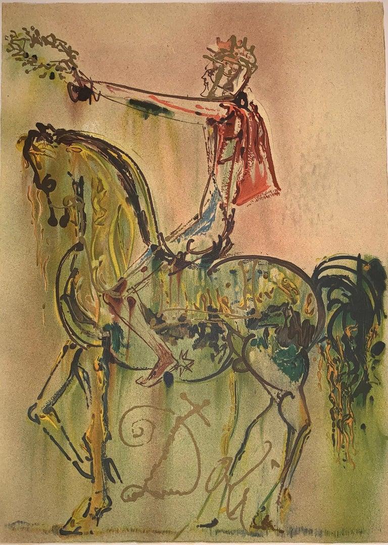 The Roman Cavalier The horses of Dali - Lithograph - Surrealist - 1983 1