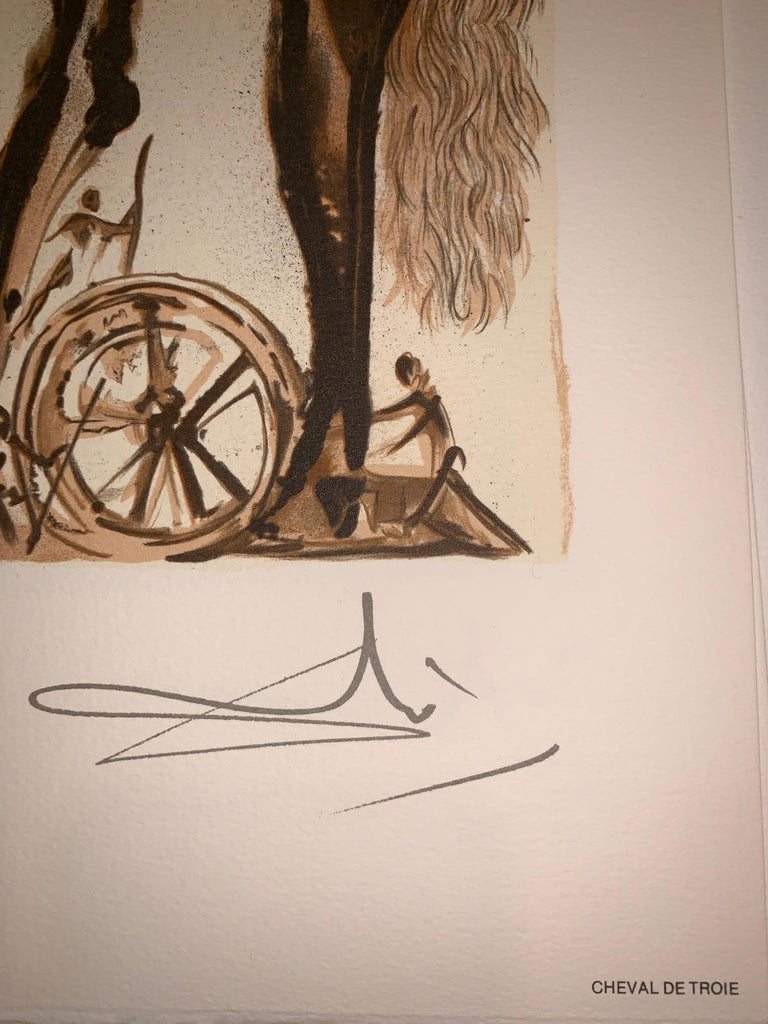 Trojan Horse - The horses of Dali - Lithograph - Surrealist - 1983 4