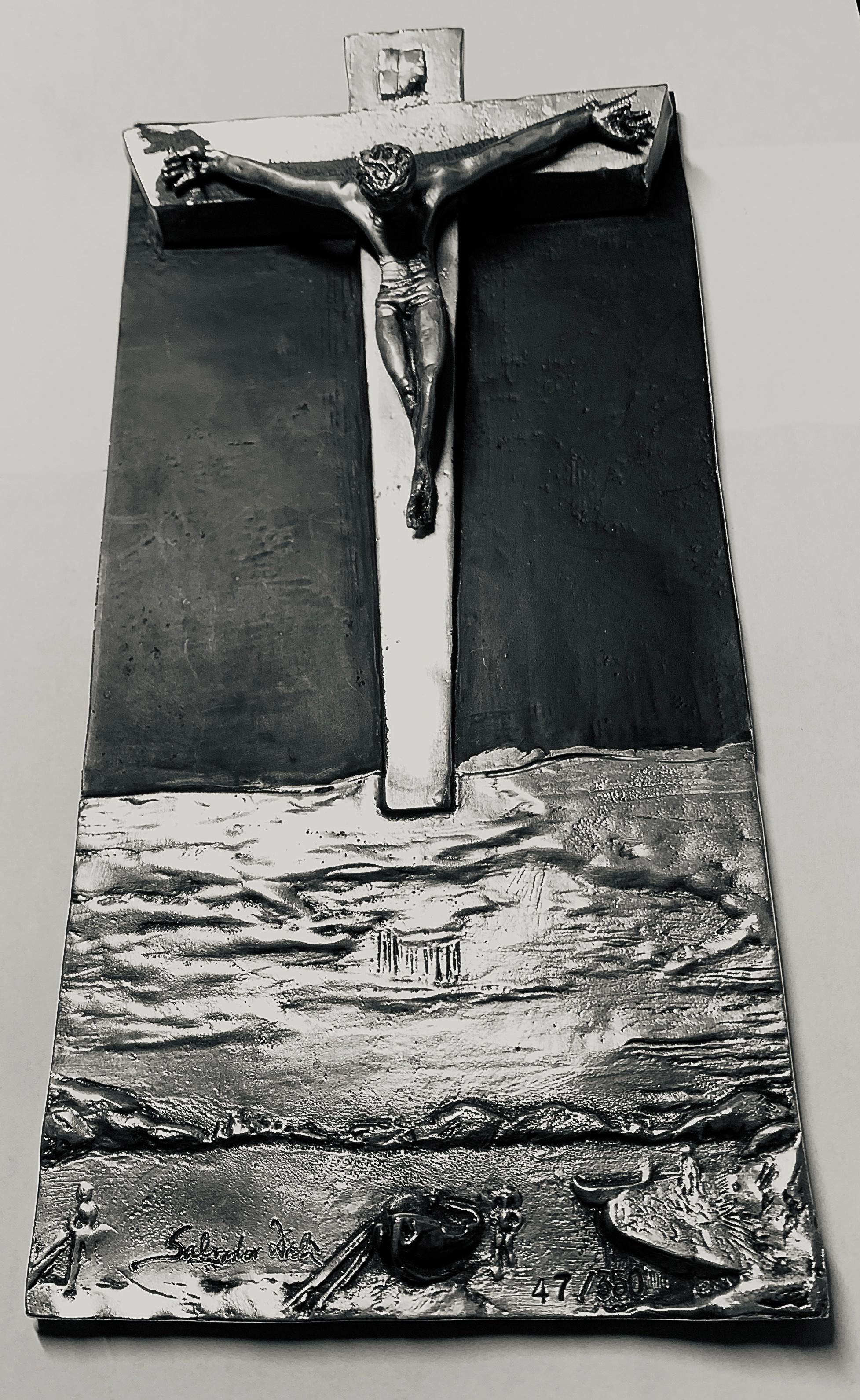 "Salvador Dali Sculpture -- ""Christ of St. John on the Cross"""