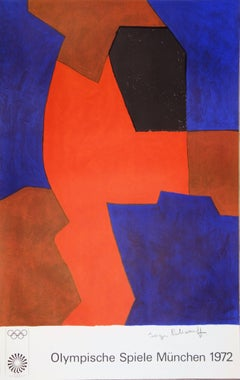 Composition in Red and Blue - Lithograph (Olympic Games Munich 1972)