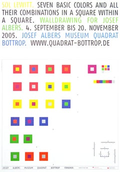 Poster Seven Basic Colors and All Their Combinations in a Square within a Square