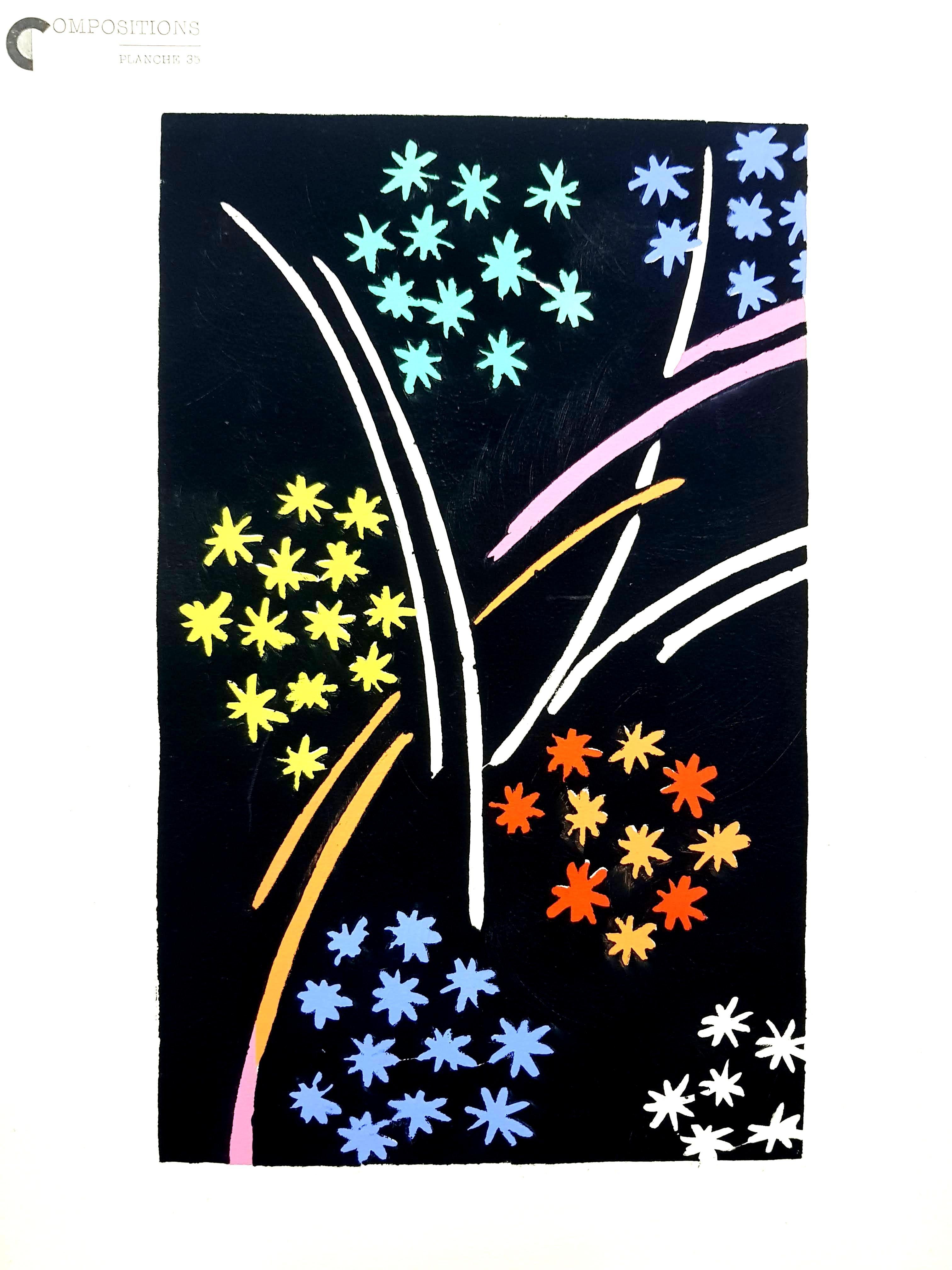 After Delaunay - Color Compositions - Pochoir