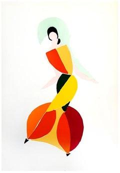 Sonia Delaunay - Living Painting - Original Colour Pochoir