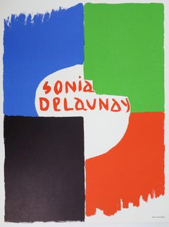 Tribute to Sonia Delaunay - Stone lithograph - 1975