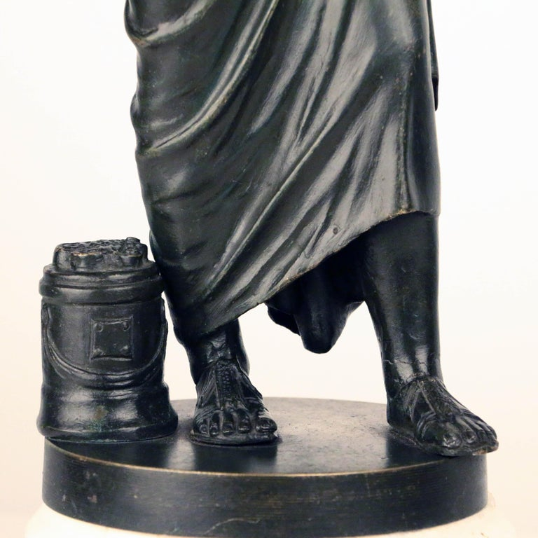 After the Antique, Grand Tour Bronze of Aristotle For Sale 3