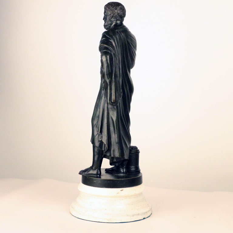 Cast After the Antique, Grand Tour Bronze of Aristotle For Sale