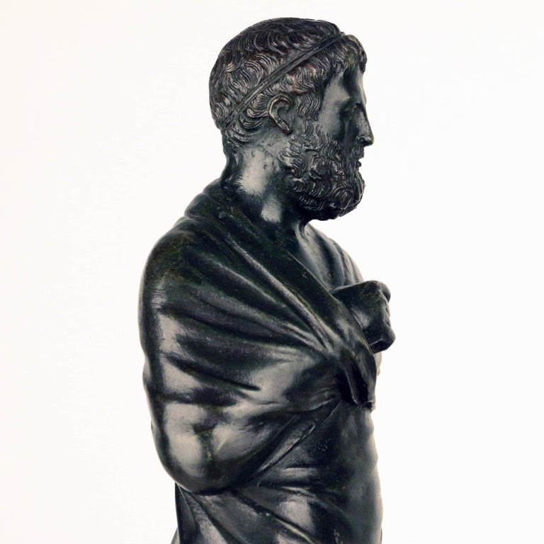 Mid-19th Century After the Antique, Grand Tour Bronze of Aristotle For Sale