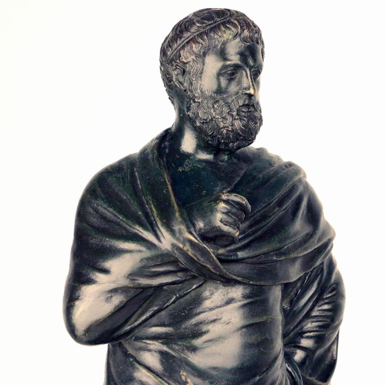 After the Antique, Grand Tour Bronze of Aristotle For Sale 1
