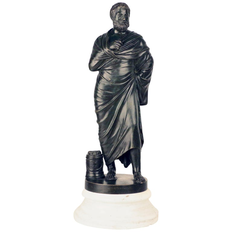 After the Antique, Grand Tour Bronze of Aristotle For Sale