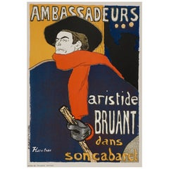 "(after) Toulouse-Lautrec, ""Ambassadeurs - Aristide Bruant"" - Das Moderne Plakat"