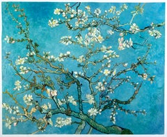 """Vincent van Gogh - """"Blossoming Almond Tree"""", hand-painted repr. - Oil on Canvas"""