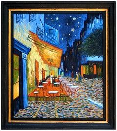 Paris Cafe Nocturnal Landscape