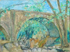 Post Impressionist Landscape -- Under the Bridge