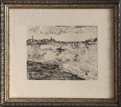 The Rhone River, 1919, Print by Vincent van Gogh
