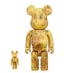 BEARBRICK: VAN GOGH SUNFLOWERS 400% & 100% - Medicom Toy Japan Vinyl figure