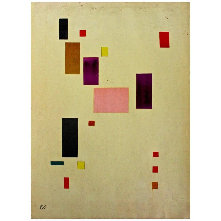 "After Wassily Kandinsky ""Fond Jaune"" 1931, Printed Mourlot 1953"