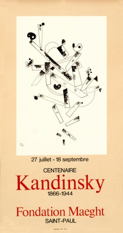 """Centenaire Kandinsky 1866-1944 - Fondation Maeght"" Original Exhibition Poster"
