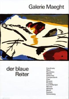 """""""der Blaue Reiter - Galerie Maeght"""" Kandinsky Original Vintage Exhibition Poster"""