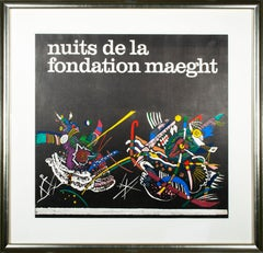 'Nuits de la Fondation Maeght' original lithograph event poster