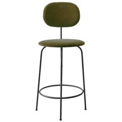 Afteroom Counter Chair Plus, Black Legs, City Velvet CA7832/031 'Earth'