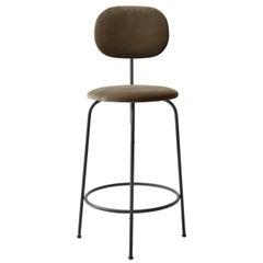 Afteroom Counter Chair Plus, Black Legs, City Velvet CA7832/078 'Grey'