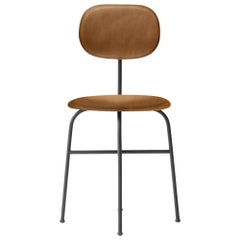 Afteroom Dining Chair Plus, Black Legs, Cognac Leather