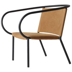 Afteroom Lounge Chair by Afteroom, in Steel with Cognac Leather