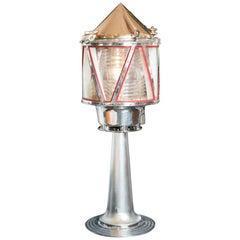 Aga Lightship or Marker Buoy Light on Stand