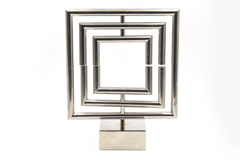 Agam Kinetic Space Divider Sculpture Limited Edition Artist Proof & Lucite Stand For Sale 6
