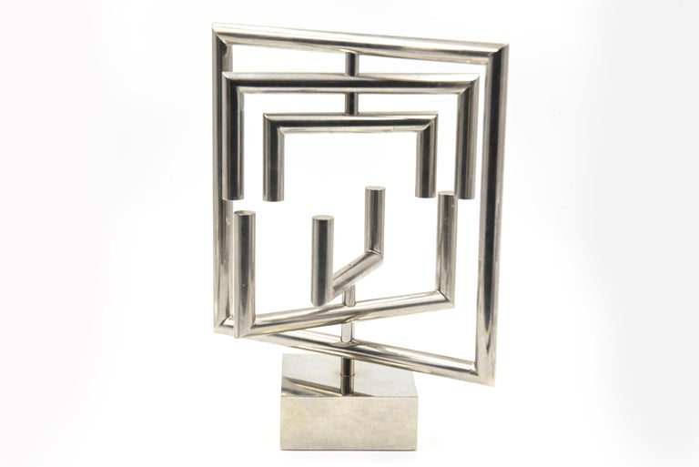 Agam Kinetic Space Divider Sculpture Limited Edition Artist Proof & Lucite Stand For Sale 7