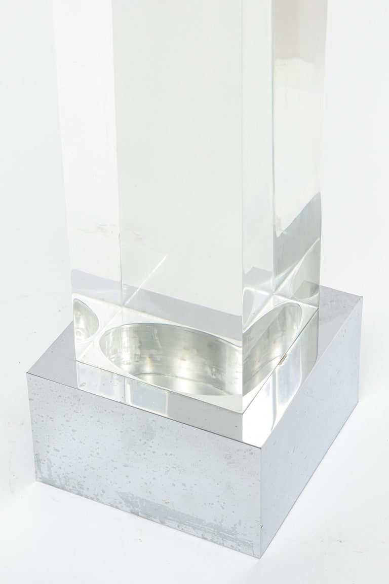 Agam Kinetic Space Divider Sculpture Limited Edition Artist Proof & Lucite Stand In Good Condition For Sale In Miami Beach, FL