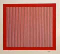 Agam 1971 Paris Kinetic Silkscreen Op Art Israeli Master Denise Rene Gallery