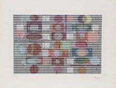Double Metamorphosis, Kinetic OP Art Screenprint by Agam