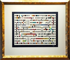"Yaacov Agam ""Abstract Composition"", limited edition screen print on paper"