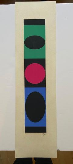 Yaacov Agam - geometric structures - 1977-79