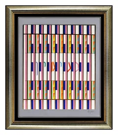 Yaacov AGAM Original Color Silkscreen Signed Op Artwork Modern Illusion Binyamin