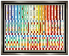 Yaacov Agam Original Color Silkscreen The Blessing Large Signed Modern Op Art