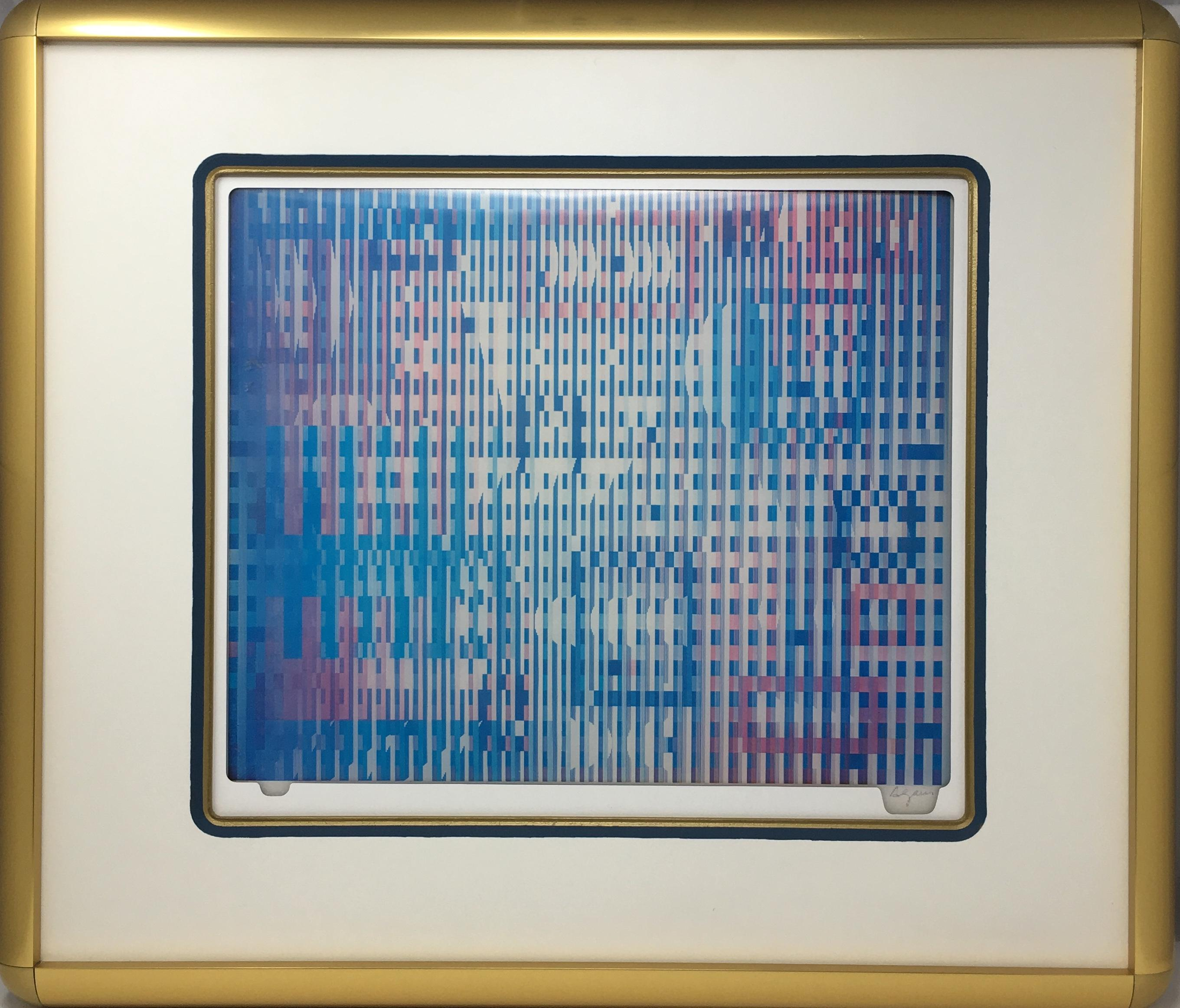 Yaacov Agam Signed Agamograph Kinetic Op-art Abstract Print