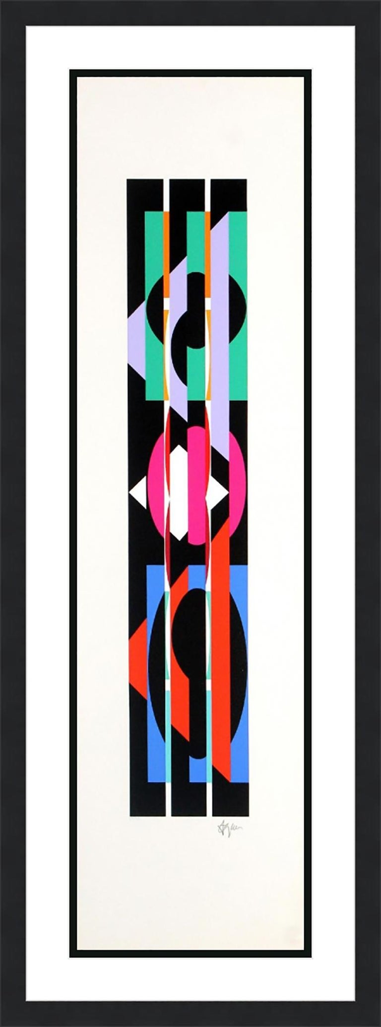 YAACOV AGAM  UNTITLED 4 FROM THE +-X9 SUITE  SIGNED AND NUMBERED - Print by Agam Yaacov